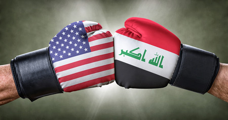 A boxing match between the USA and Iraq