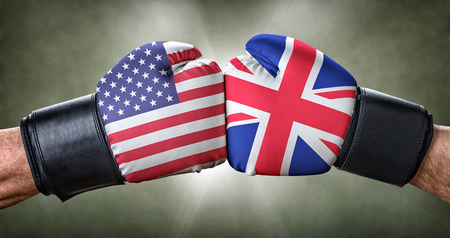 A boxing match between the USA and the UK