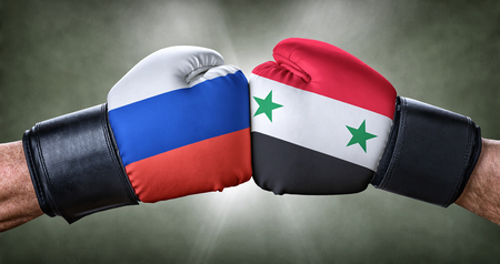 A boxing match between Russia and Syria