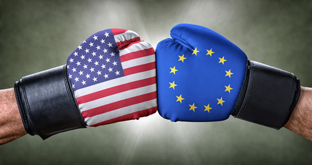 A boxing match between the USA and the European Union