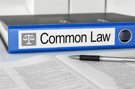 ordenanza: Blue folder with the label Common Law