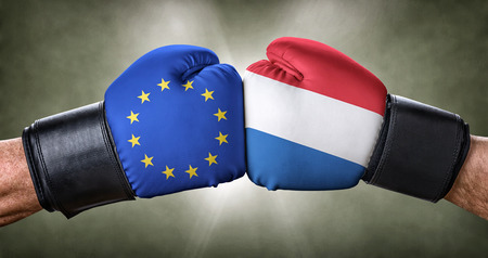 A boxing match between the European Union and the Netherlands