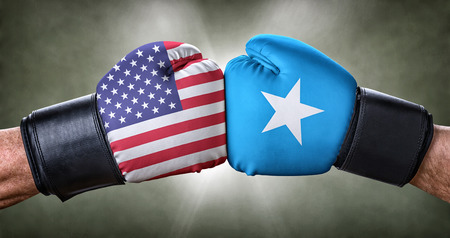 A boxing match between the USA and Somalia