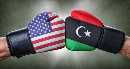 A boxing match between the USA and Libya