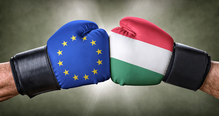 A boxing match between the European Union and Hungary