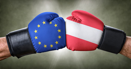 A boxing match between the European Union and Austria