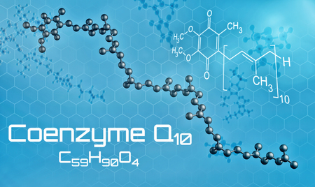 Three-dimensional molecular model of Coenzyme Q10 - 3d render Stock Photo