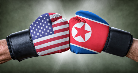 A boxing match between the USA and North Korea