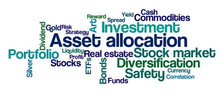 Word Cloud op een witte achtergrond - Asset Allocation