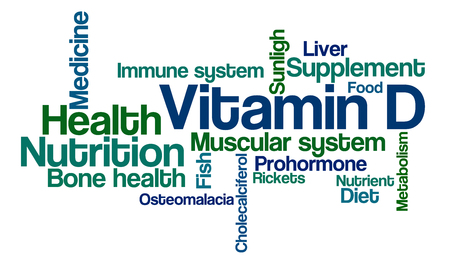 Word Cloud on a white background - Vitamin D