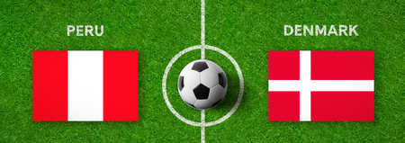 Football match Peru vs. Denmark