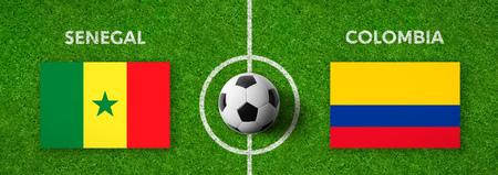 Football match Senegal vs. Colombia Stock Photo