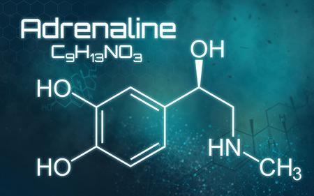 Chemical formula of Adrenaline 版權商用圖片
