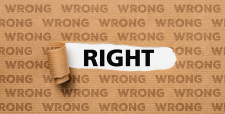 Torn Paper - Right or Wrong