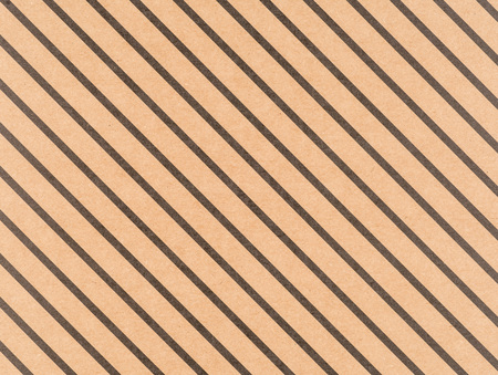 Brown craft paper with a diagonal black lines Stock Photo