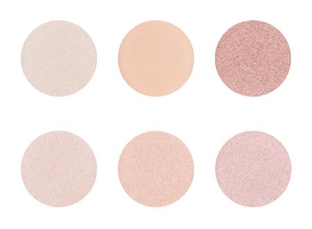 Eyeshadow palette on a white background -  Light Skin tones