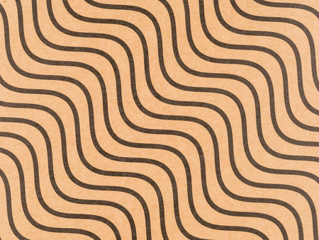 Brown craft paper with a wavy line pattern Stock Photo