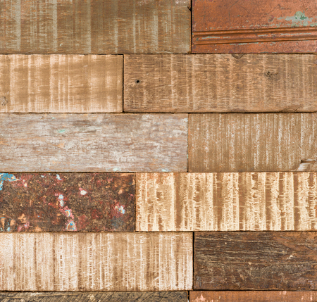 A rustic weathered wood texture Stock Photo