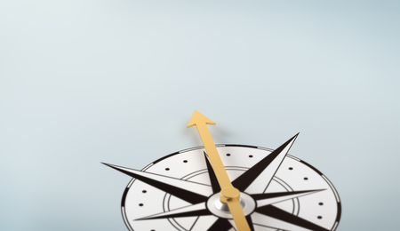 A compass with copy space Stock Photo