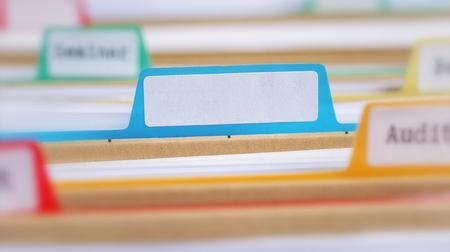 File folders with an empty tab  版權商用圖片