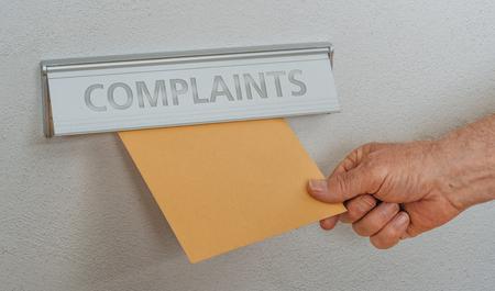 A letterbox with the inscription Complaints Banque d'images