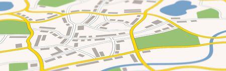 Ein generisches Stadtplanbanner