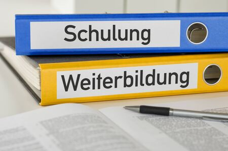Folders with the label Training and Education - Schulung und Weiterbildung (German)