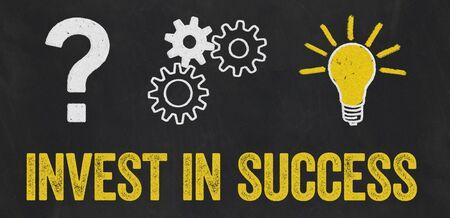 Question Mark, Gears, Light Bulb Concept - Invest in success Reklamní fotografie
