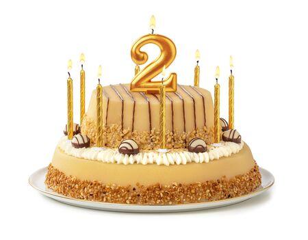 Gâteau festif aux bougies dorées - Numéro 2