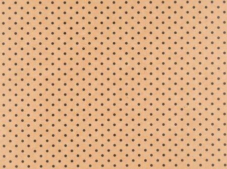 Brown craft paper with small black dots Stock fotó
