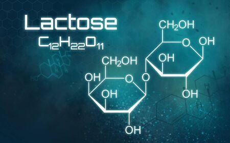 Chemical formula of Lactose on a futuristic background Reklamní fotografie