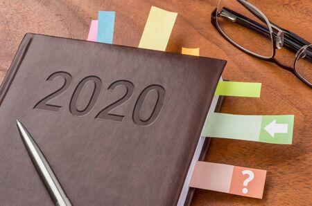 Notebook on a desk 2020