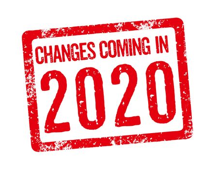 Red stamp - Changes coming in 2020