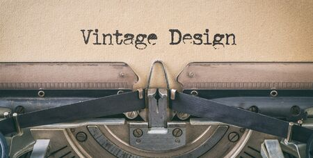 Text written with a vintage typewriter -  Vintage Design