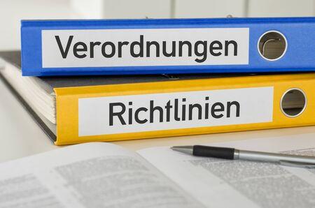 Folders with the label Regulations and Policies - Verordnungen und Richtlinien (German)