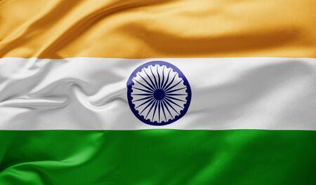 Waving national flag of India Banco de Imagens