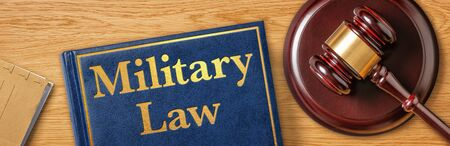 A gavel with a law book - Military Law