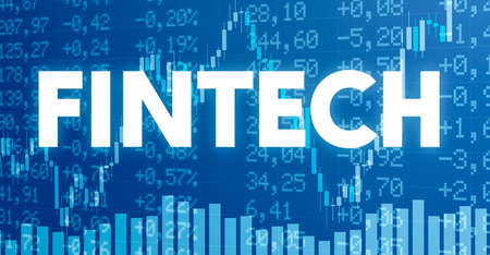Conceptual image with financial charts and graphs - Fintech