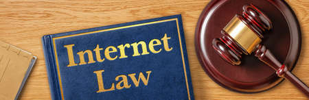 A gavel with a law book - Internet Law