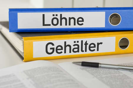 Folders with the label Wages and Salaries - Loehne und Gehaelter (German) Banque d'images