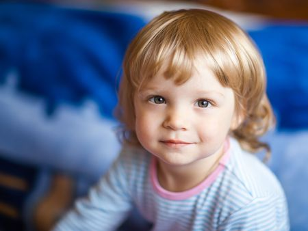naivety: Adorable little girl - shallow DOF, focus on eyes