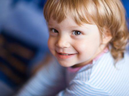 Adorable little girl - shallow DOF, focus on front eye photo