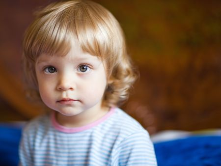 Adorable little girl - shallow DOF, focus on eyes photo