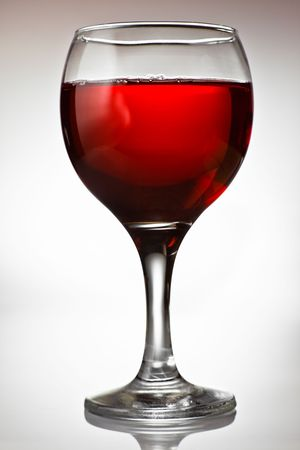 injurious: Goblet filled with red wine