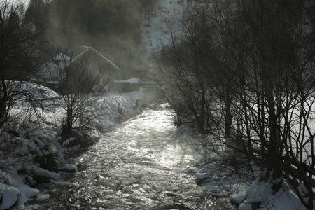 wintry Taurach at Mauterndorf