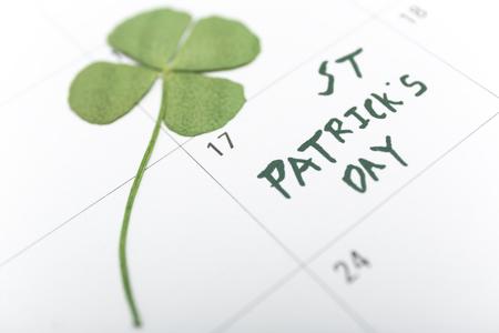 st patricks day on march calendar pin