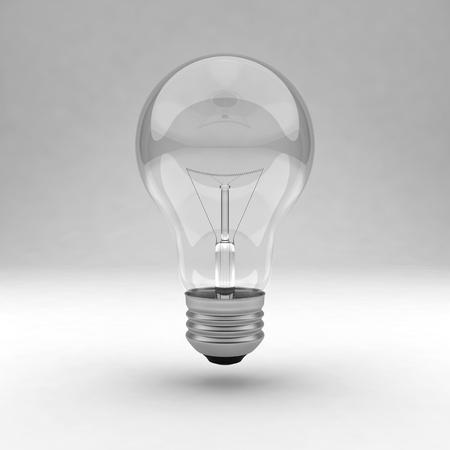 Single clear light bulb