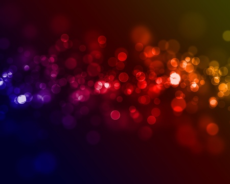 multi colored bokeh lights circular shapes Stock Photo