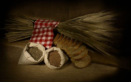 things that go together: Wheat Bread and Wheat Stock Photo