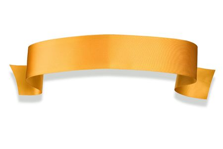 banner: Elegance yellow ribbon banner with shadow Stock Photo